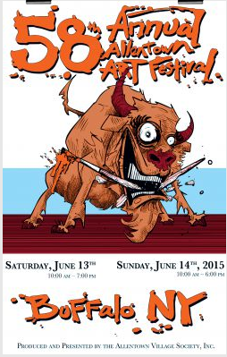 Allentown Art Festival, Buffalo NY - Saturday June 13th, 10am - 7pm and Sunday June 14th, 10 am - 6pm
