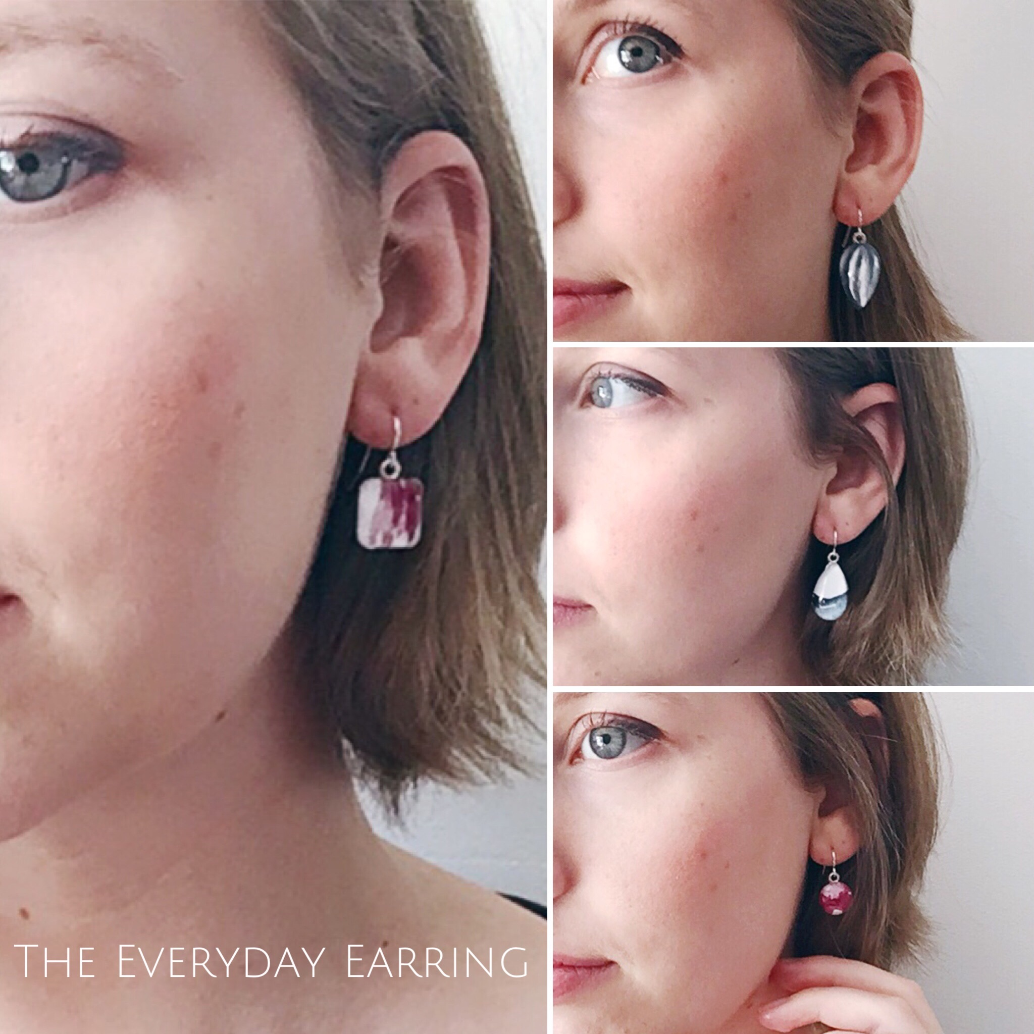 The Everyday Earrings - Handpainted by Alicia McGloon - SimplyDivineDetails.com