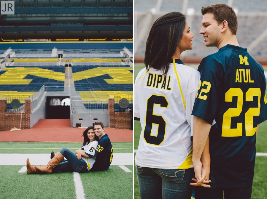 Dipal+Atul_Engagement_Session_Ann_Arbor_The_Big_House_013