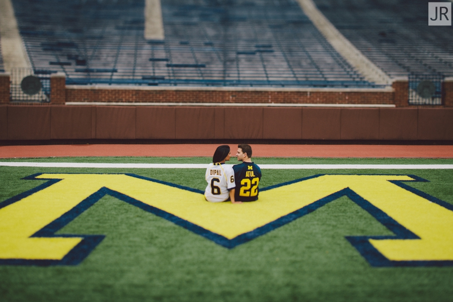Dipal+Atul_Engagement_Session_Ann_Arbor_The_Big_House_016