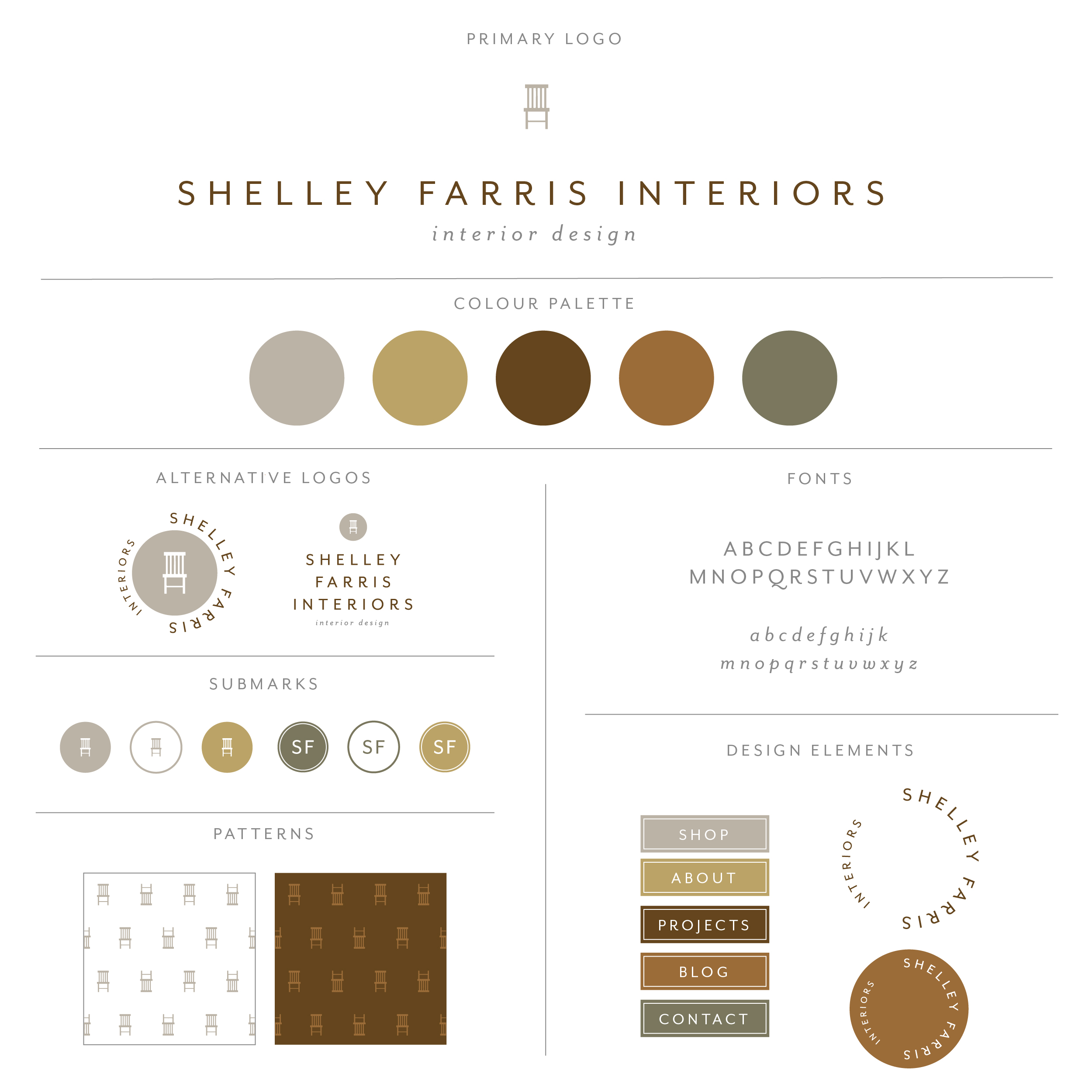 Shelley Farris Interiors collection intended for the interior designer with rich browns and greens, a woodworkers dream. Dark and modern with wood tones