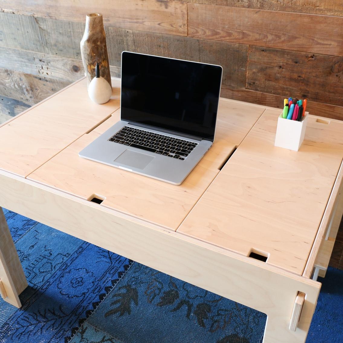 Storage-Top Desk -