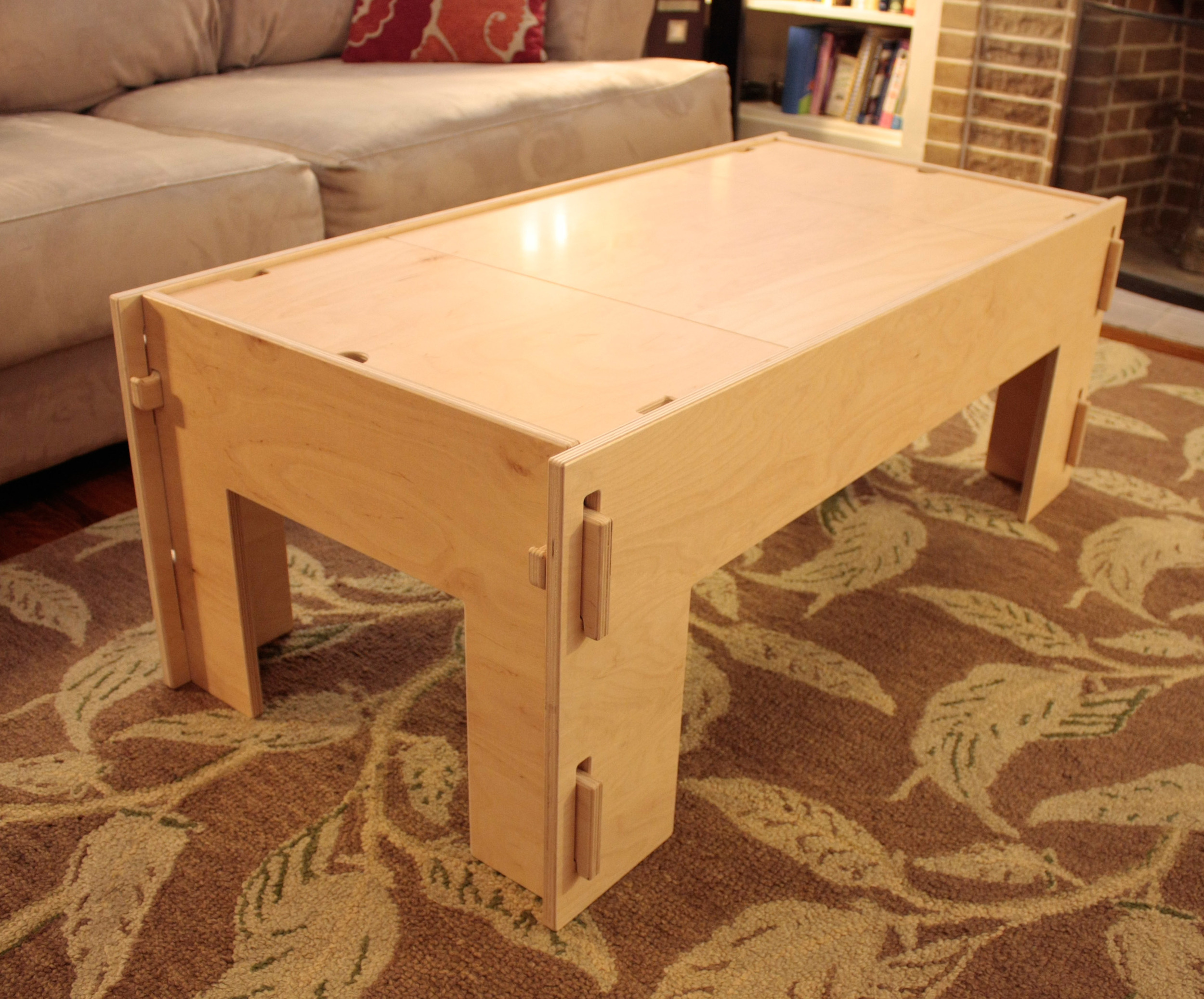 Storage Coffee Table (also available with lower shelf)