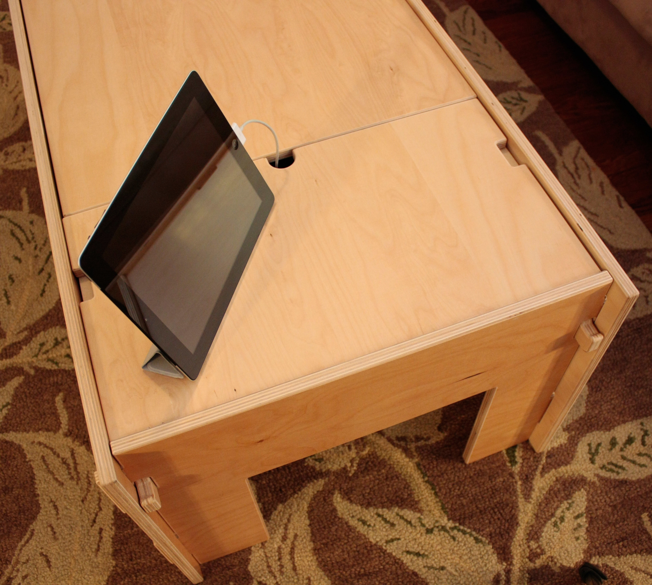 Storage Coffee Table with iPad