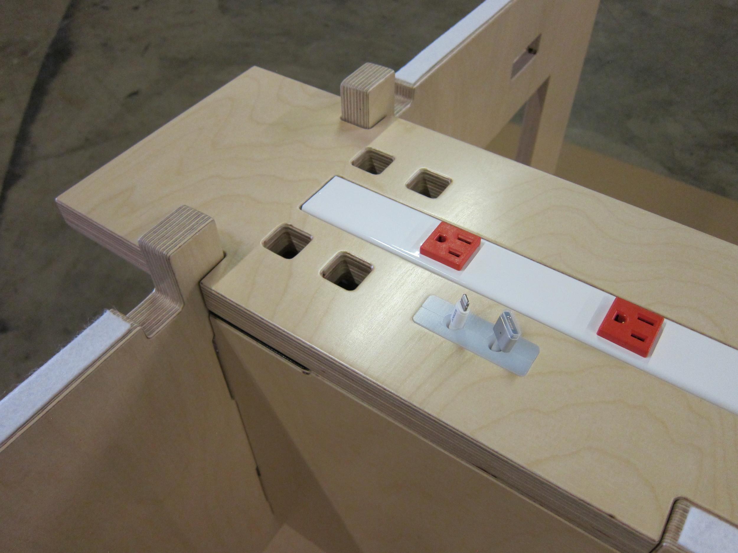Top of power strip - Klevr WELD Table