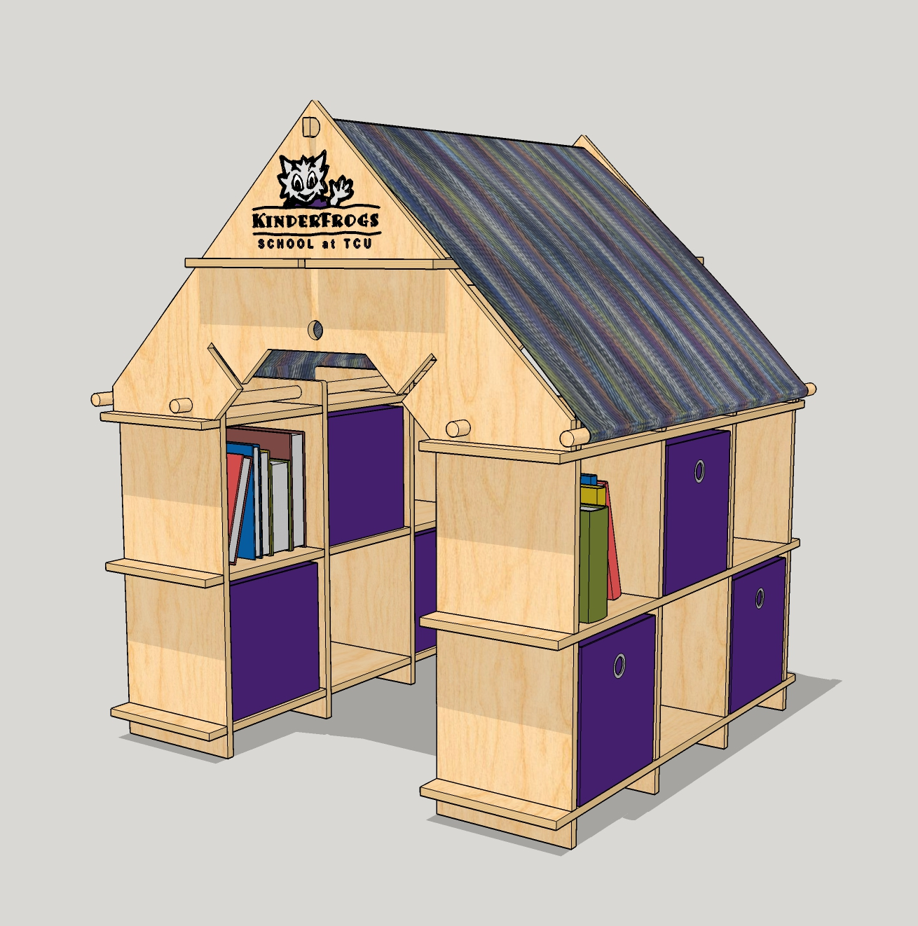 Original design model of the convertible playhouse