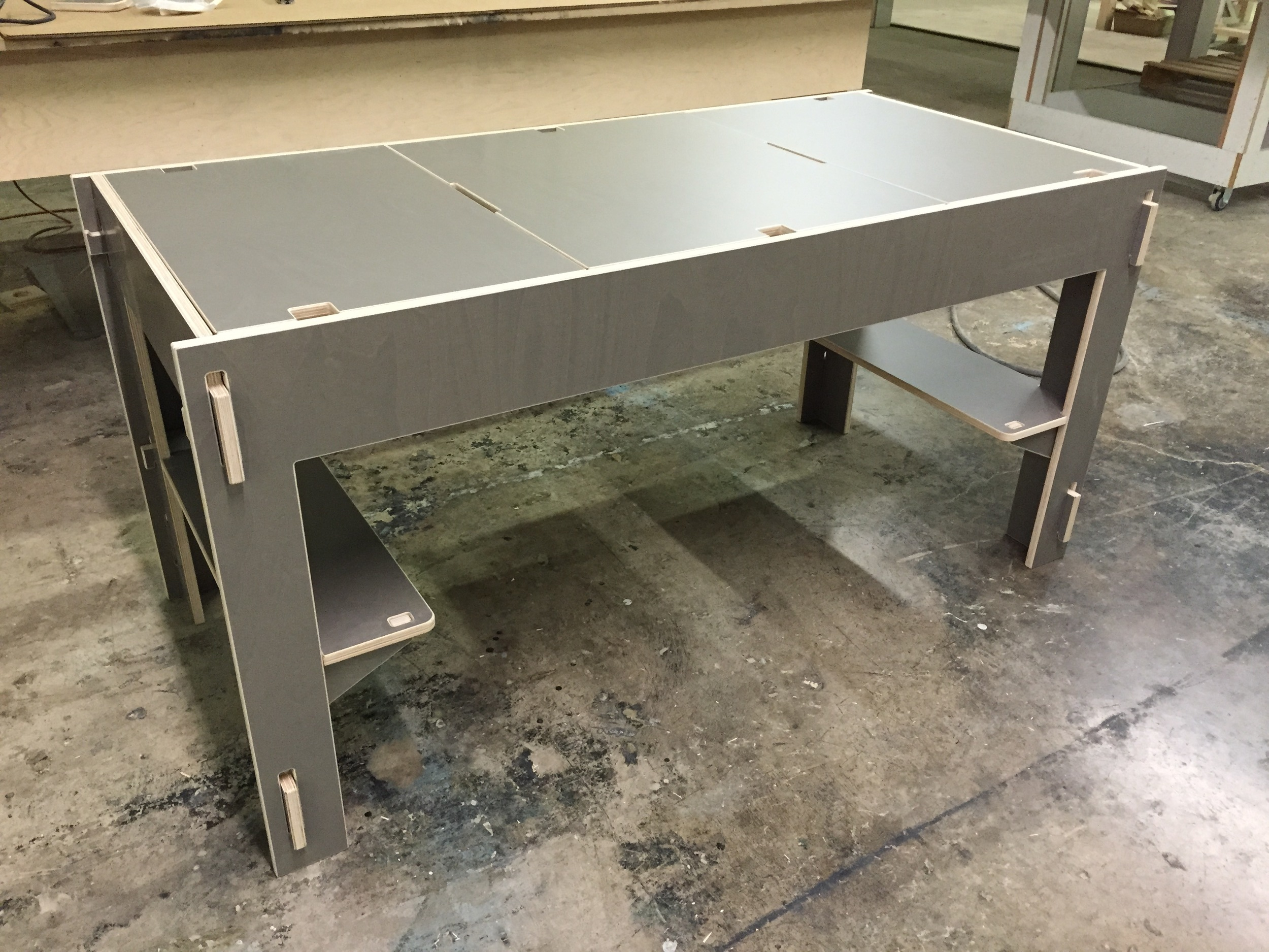 Front view of the custom Storage-Top Desk