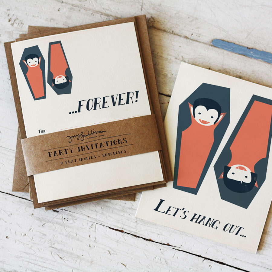 Hang Out Forever Vampire Invitations