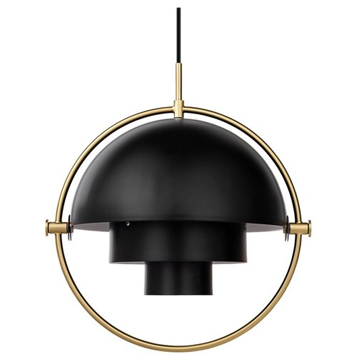 Louis Weisdorf Multi Lite Pendant Lamp In Black Brass