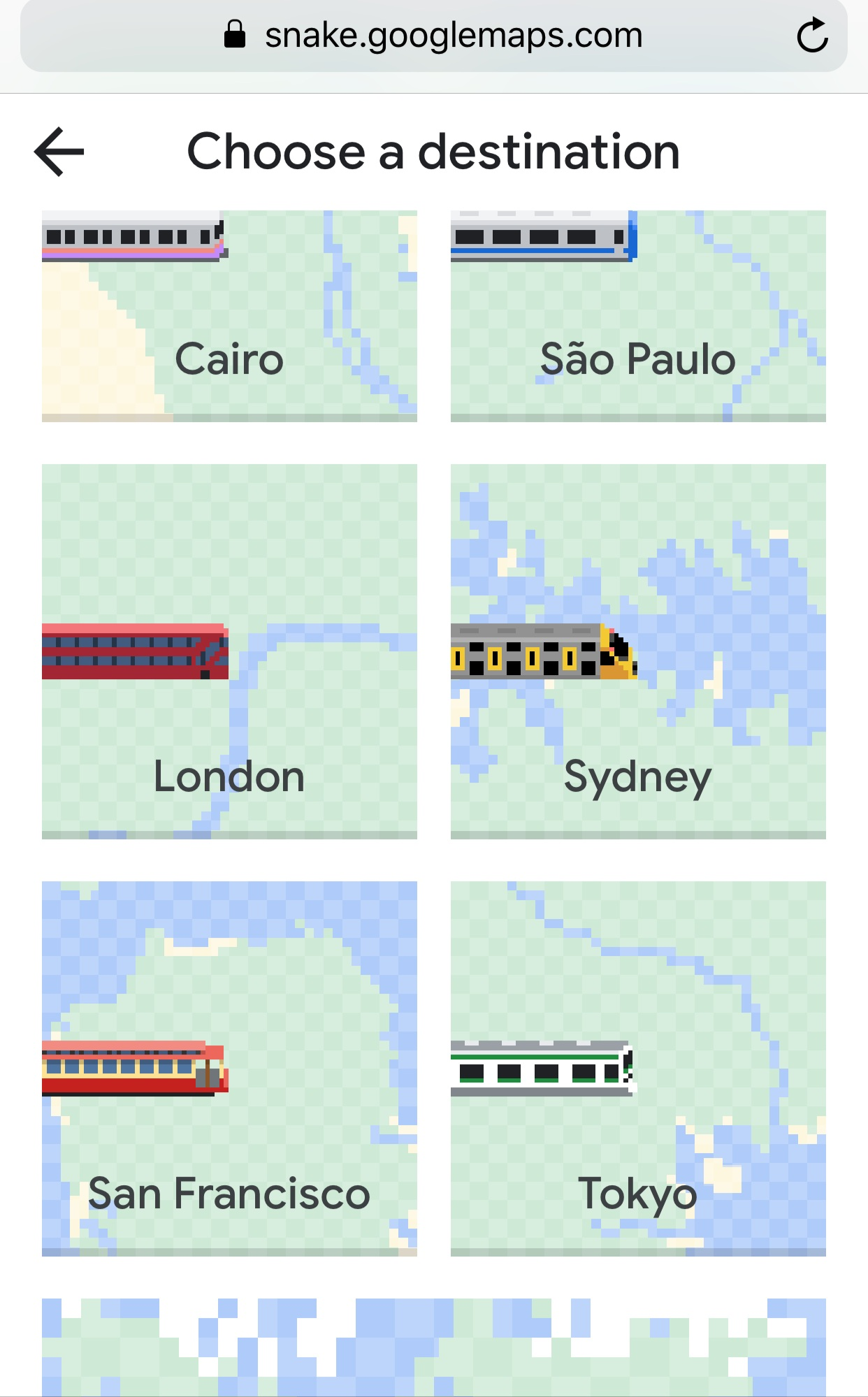 google april fools pick your city 2019