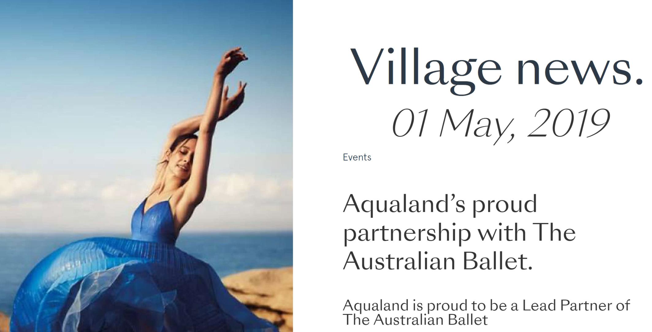 - Aqualand Sponsors the Australian Ballet