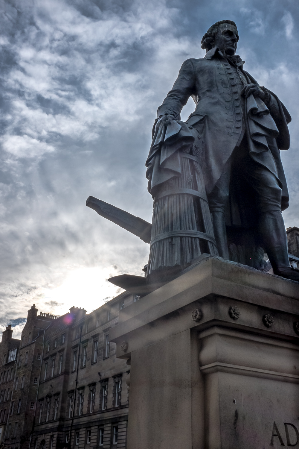 Adam Smith statue, outside of St. Giles' Cathedral