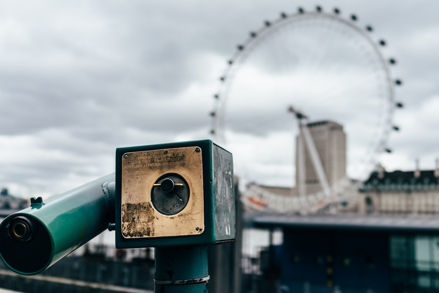 The London Eye, as seen from Embankment.
