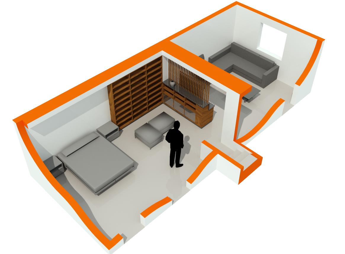 Basement residential remodel. Freelance.