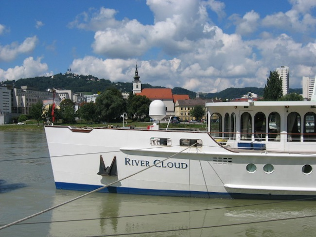 River Cloud  on the Danube, Linz, Austria