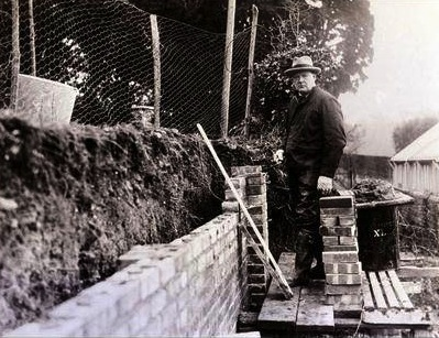 Winston Churchill at Chartwell in the late 1920s.