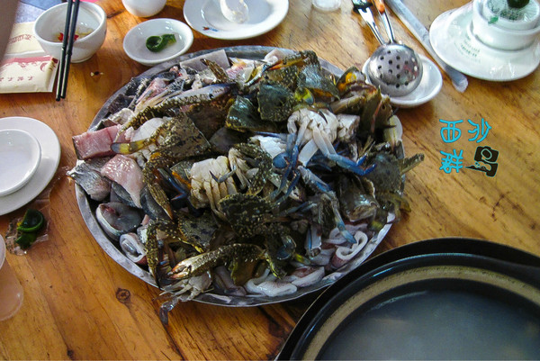Indelicate delicacies cooked up by tourists in the Paracel Islands. Photo from the Mafengwo blogging platform.