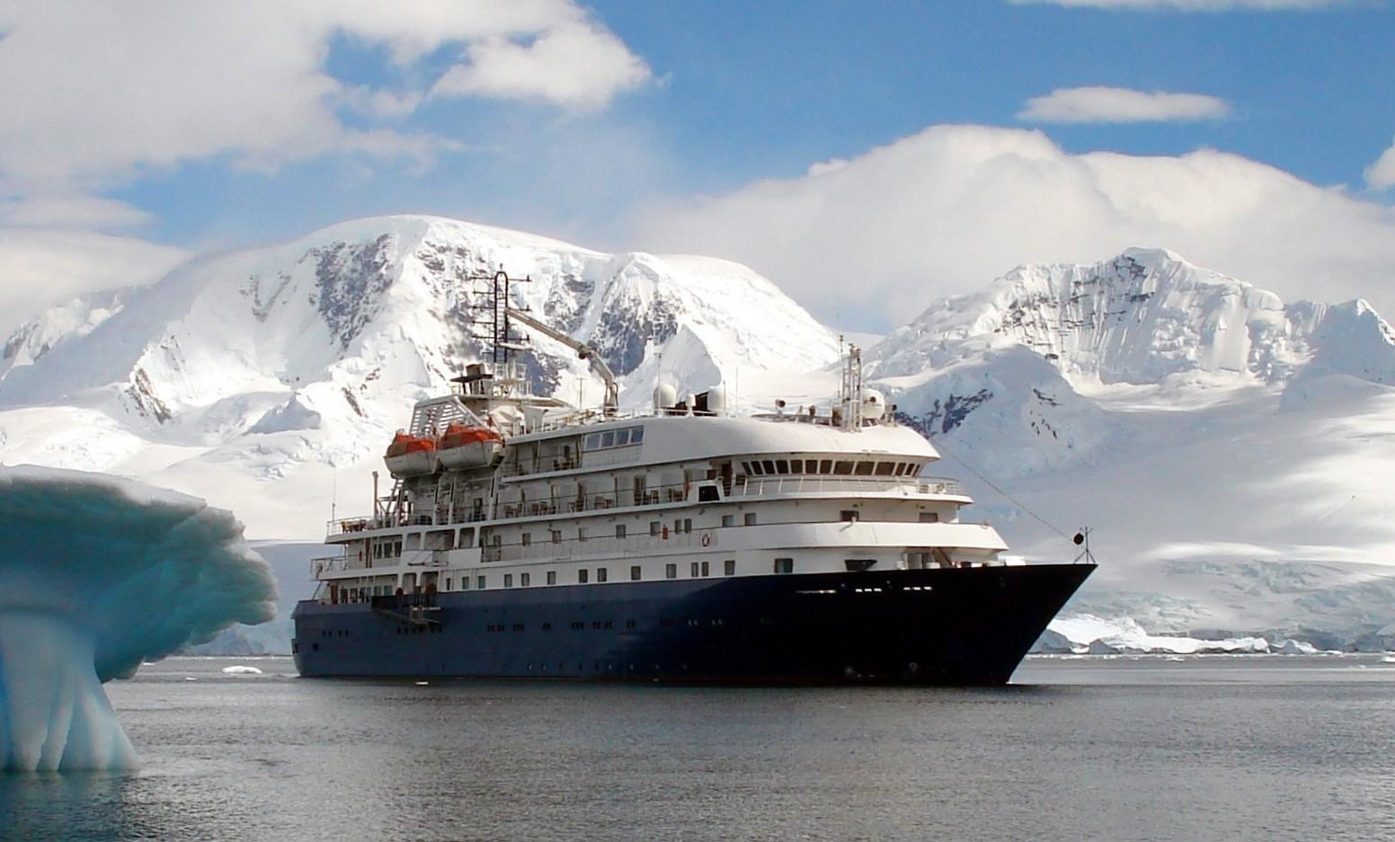 Sea Explorer  in Antarctica.