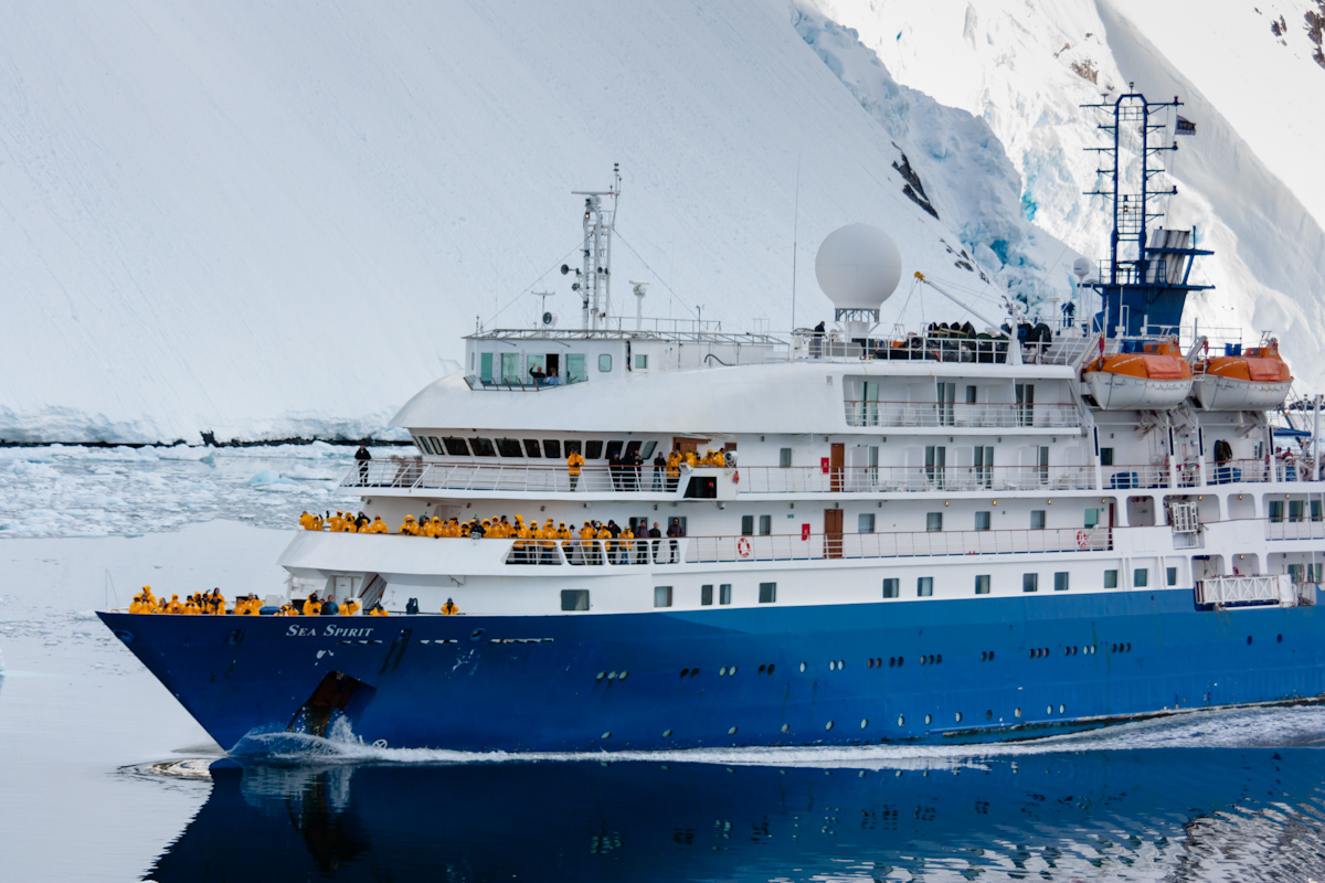 Sea Spirit  in the Lemaire Channel, Antarctic Peninsula.