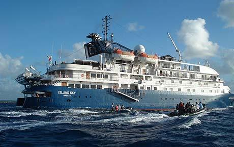 The Island Sky,  currently operated by Noble Caledonia.Join her in Cuba, the Azores, Iceland, Black Sea, White Sea or the Seychelles. And that's just this year!