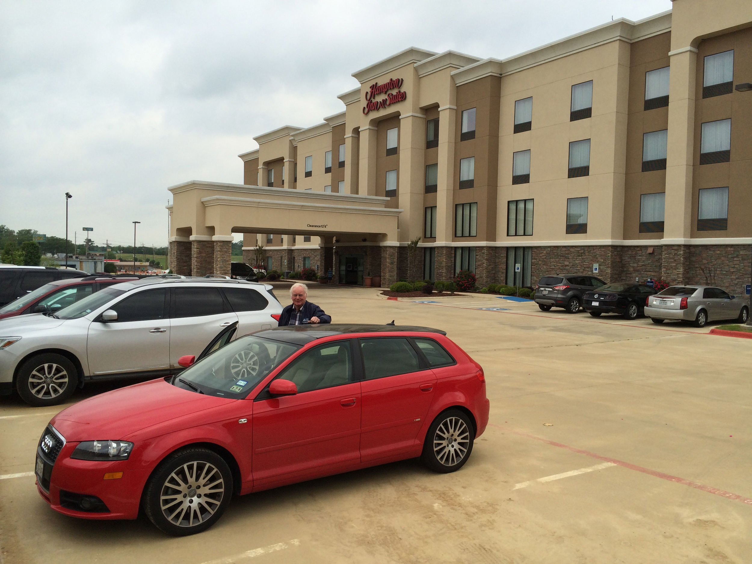Navigator Ted Scull ready to guide us on Day Two, from Mount Pleasant, TX to Memphis, TN via Little Rock, AR.