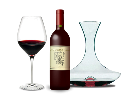 Holmegaard cabarnet red wine glass & Peugeot grand bouquet decanter.