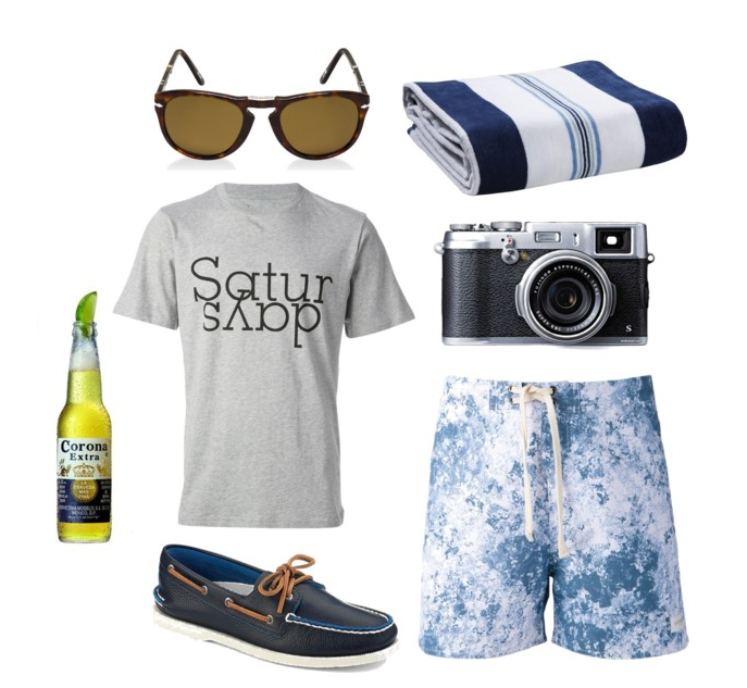 Sperry Topsider's are our favourite for summer casual shoes. Shirt and shorts are from (possibly the coolest surf/coffee shop on the planet) Saturdays Surf NYC.