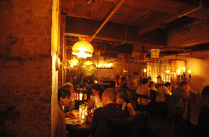La Esquina, subterranean dining area.