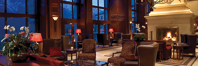 Rimrock hotel in the winter ensemble calgary