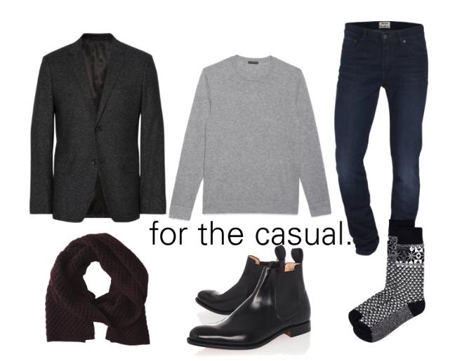 Ensemble style Calgary personal shopper dark denim and black boots