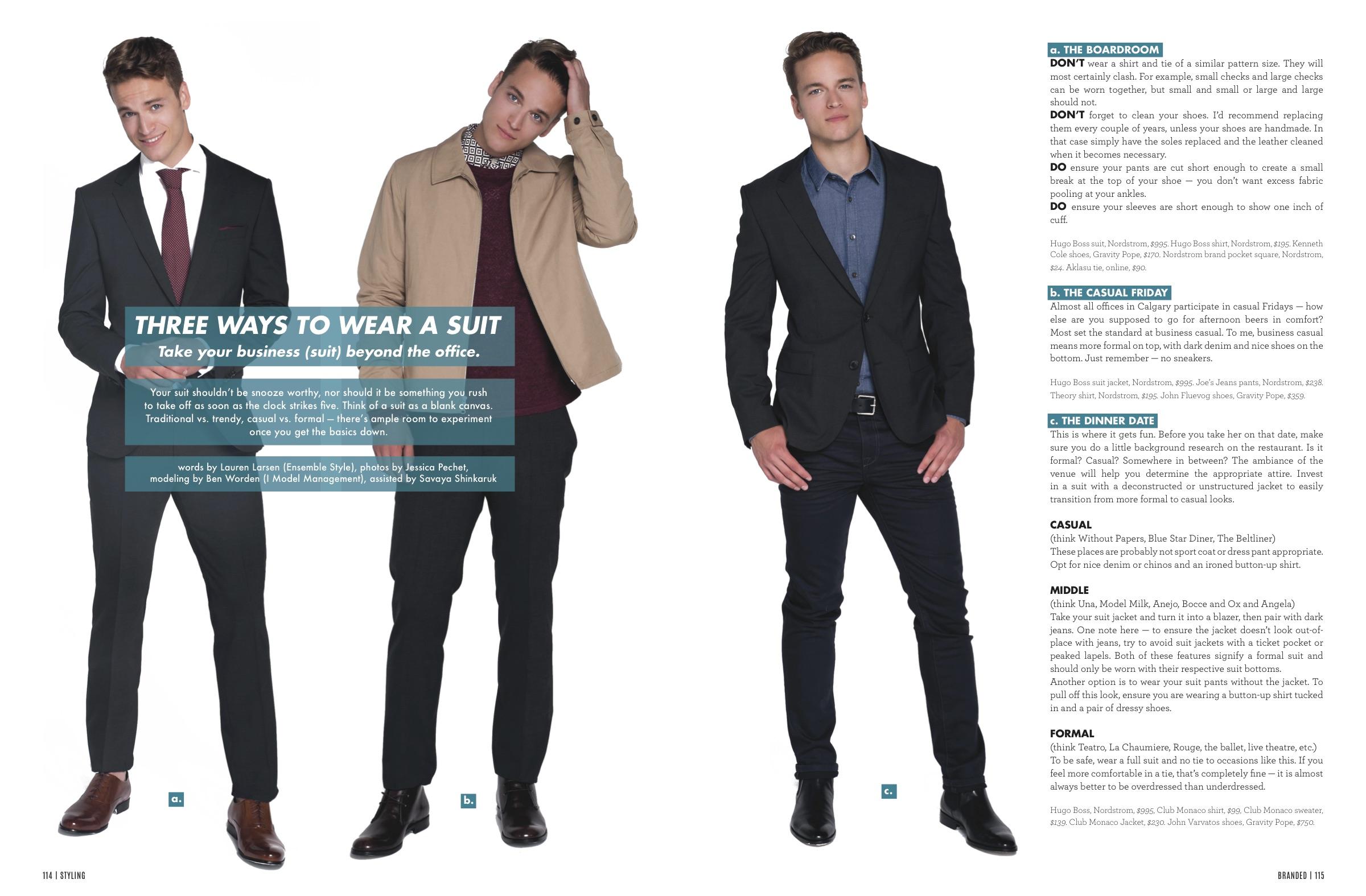 Lauren Larsen personal stylist calgary menswear