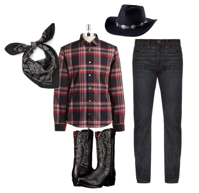 Calgary Stampede style Ensemble Style western style cowboy style