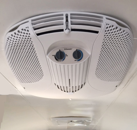 Air conditioning cover on ceiling