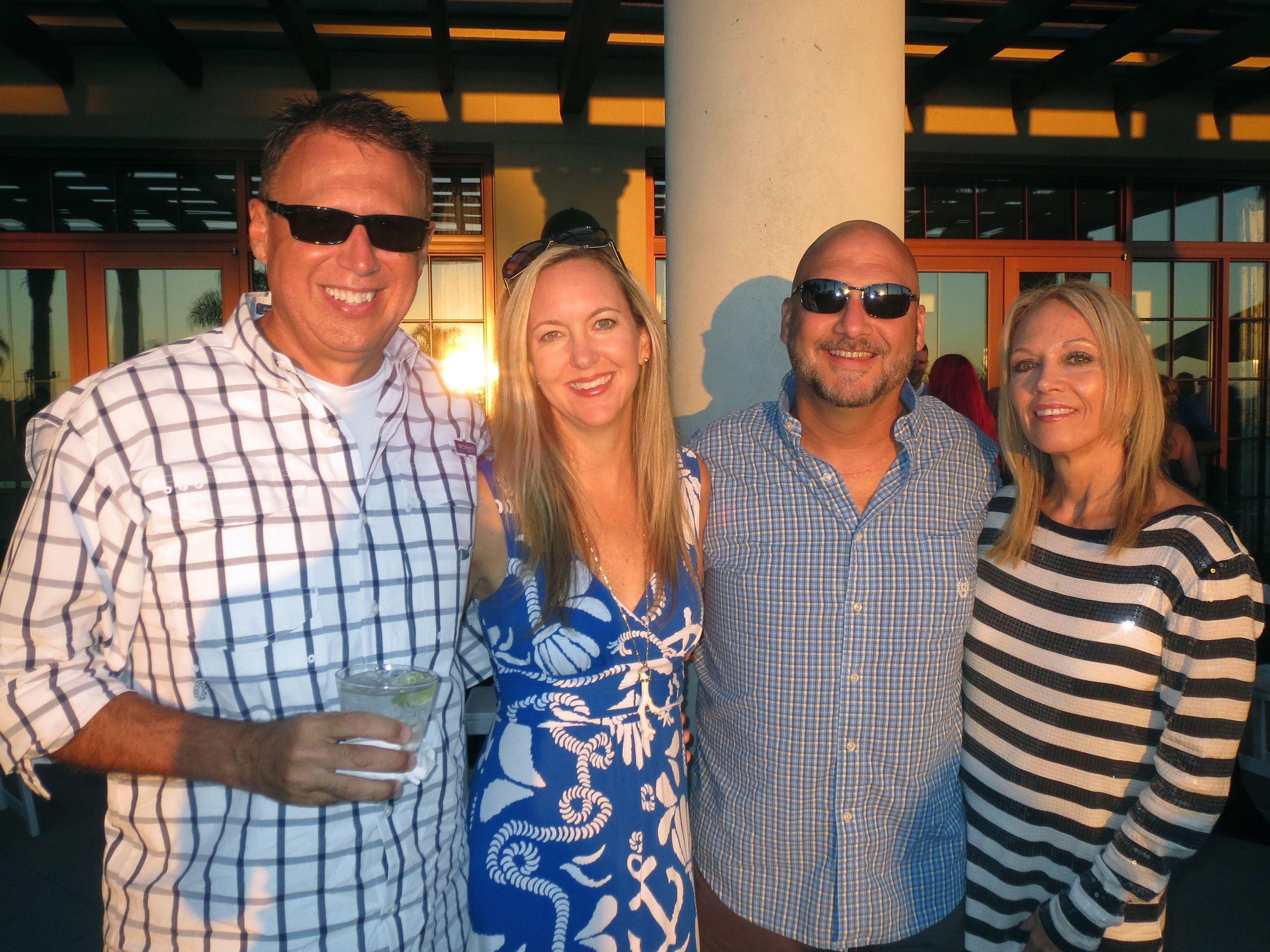 The Gang from Tile Market of Sarasota: SHane, Brigid, Marshall and Sheryl