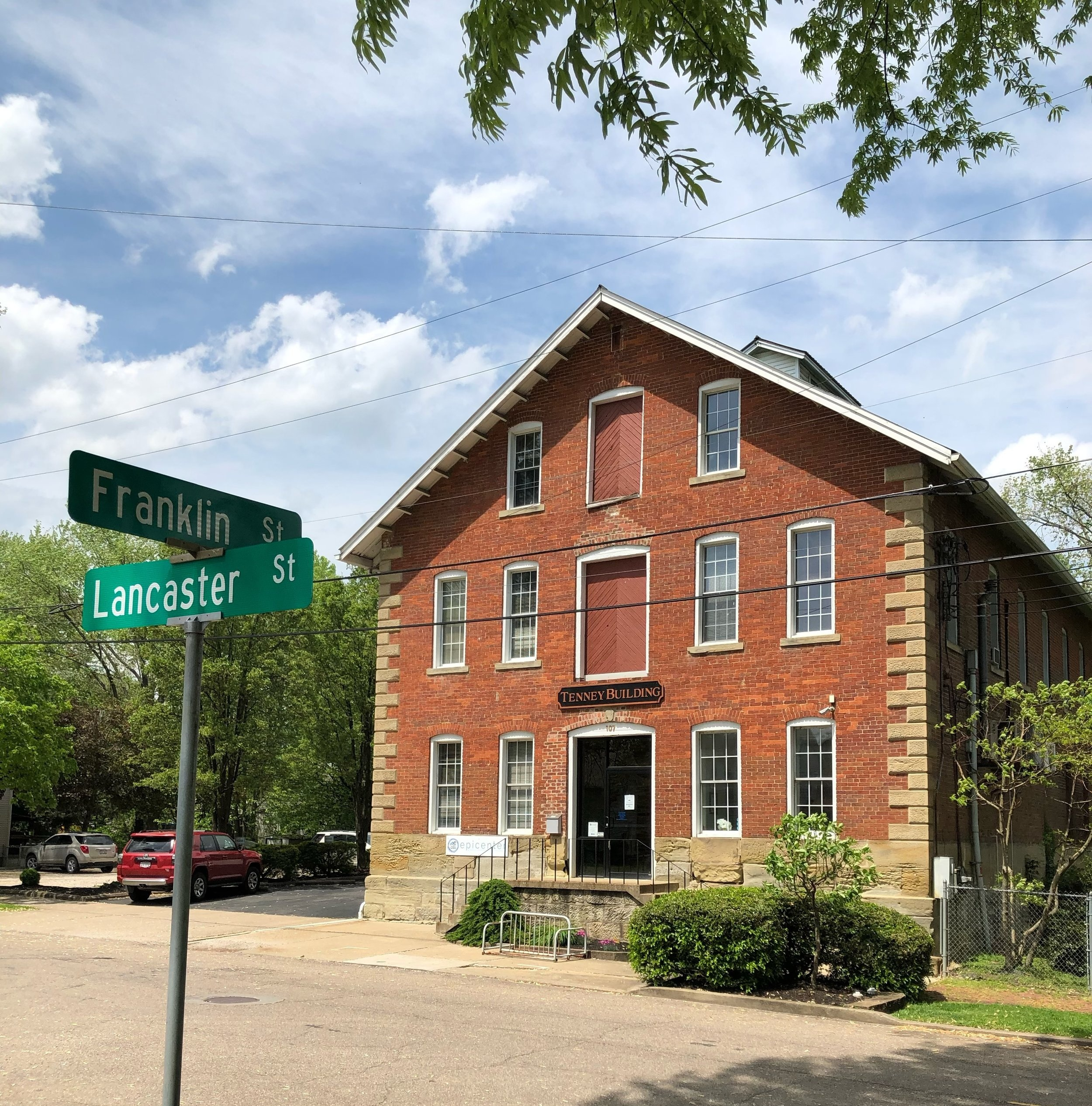 We are a part of the BB2C Epicenter at 107 Lancaster Street in Harmar Village. The Epicenter is at the intersection of Lancaster & Franklin Street. The Makerspace entrance is on the left side of the building at the top of the ramp.