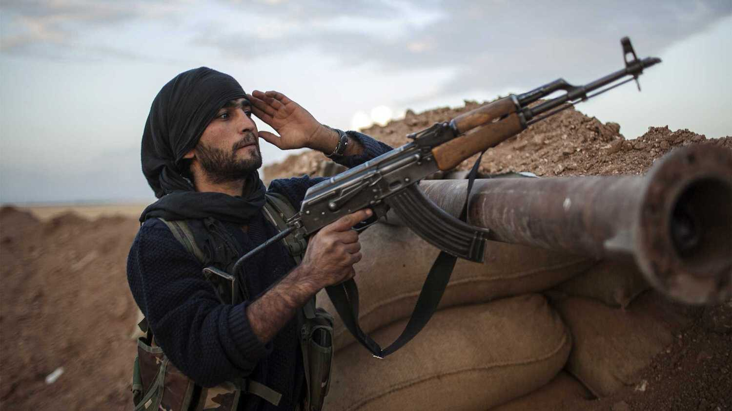 An ISIS fighter in northern Syria.