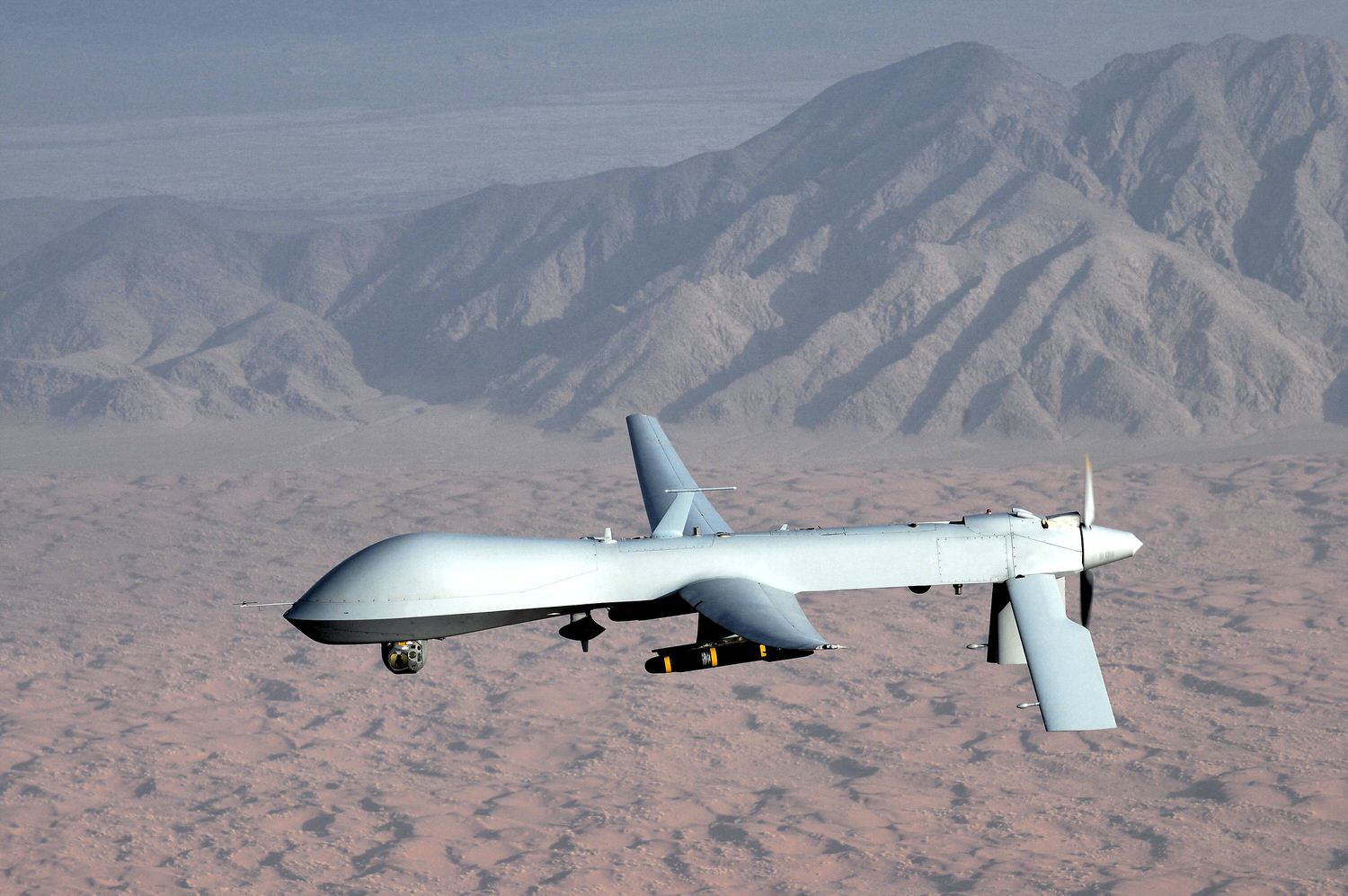 Unmanned MQ-1 Predator drone similar to the kind that may be used in the case of intervention.