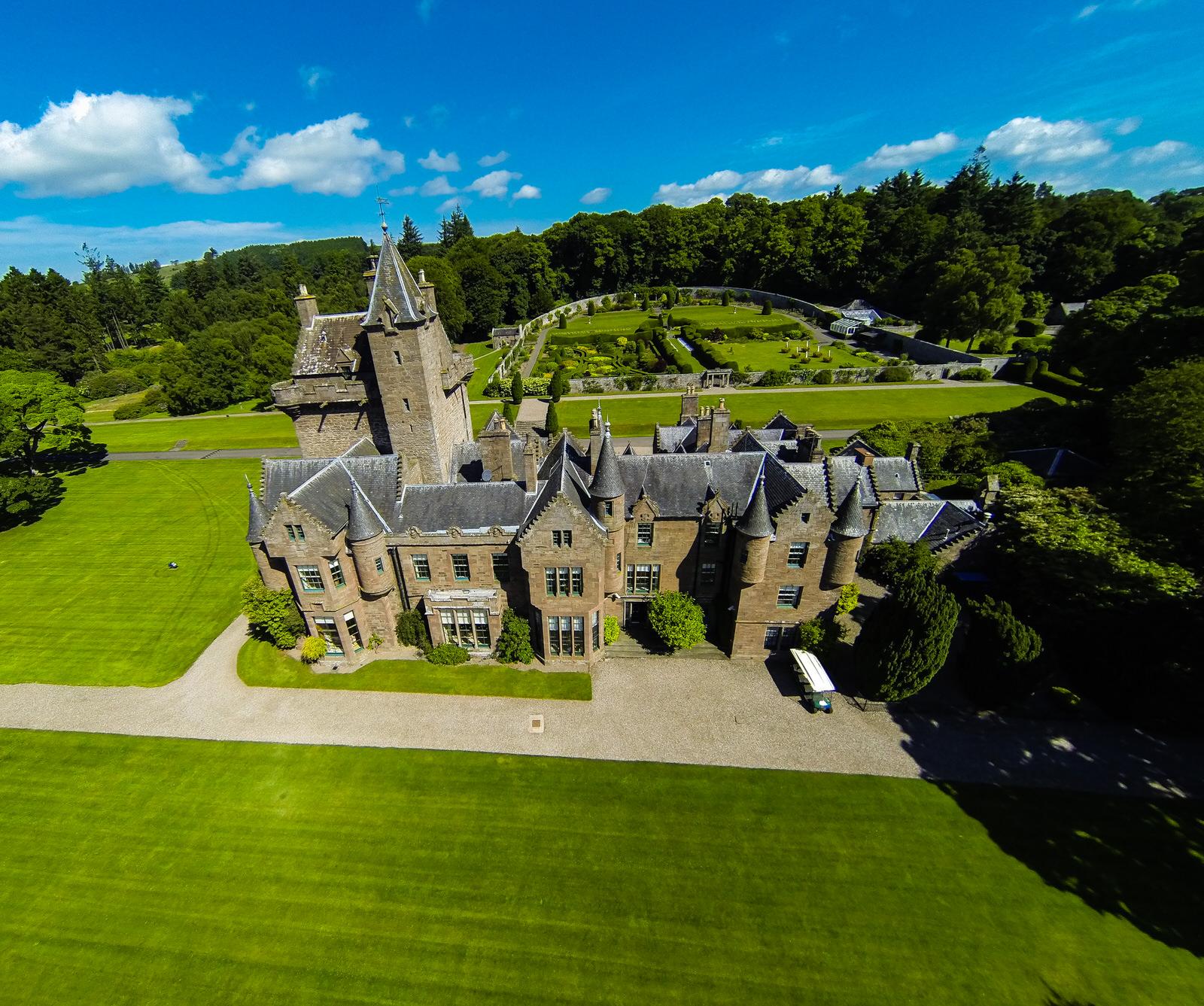 Guthrie Castle in Scotland - where Dan's QLA course runs.