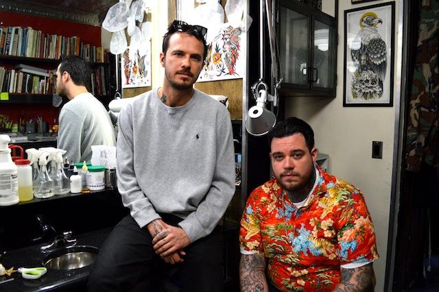 Maxx Starr and Big Steve Fun City Tattoo   Photo by Louisa Hamby