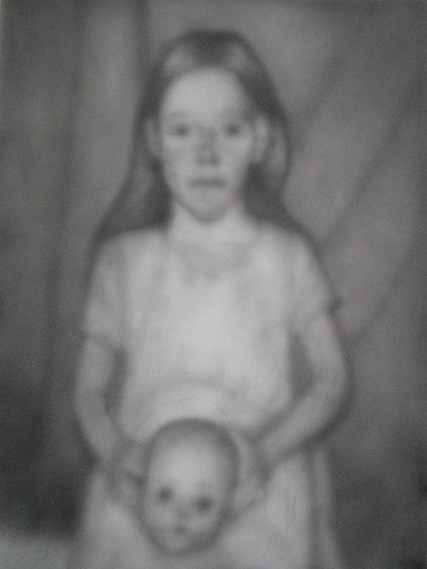 Little Girl Holding Doll's Head