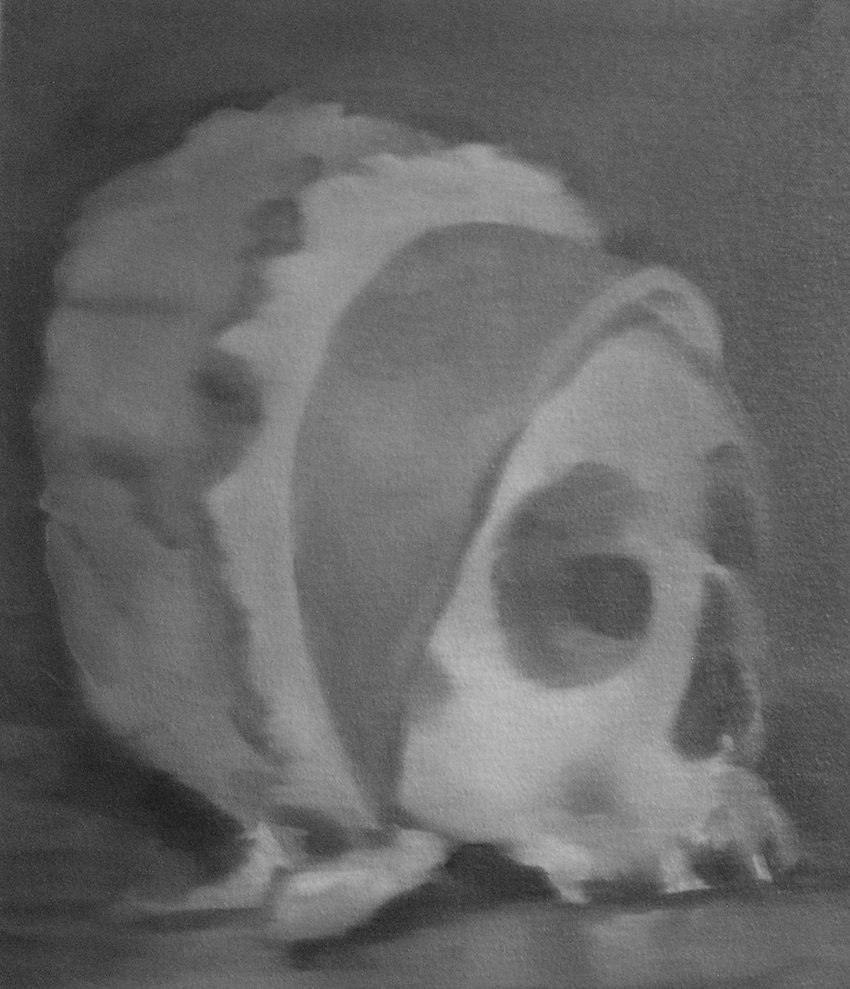 Skull Wearing a Baby Bonnet