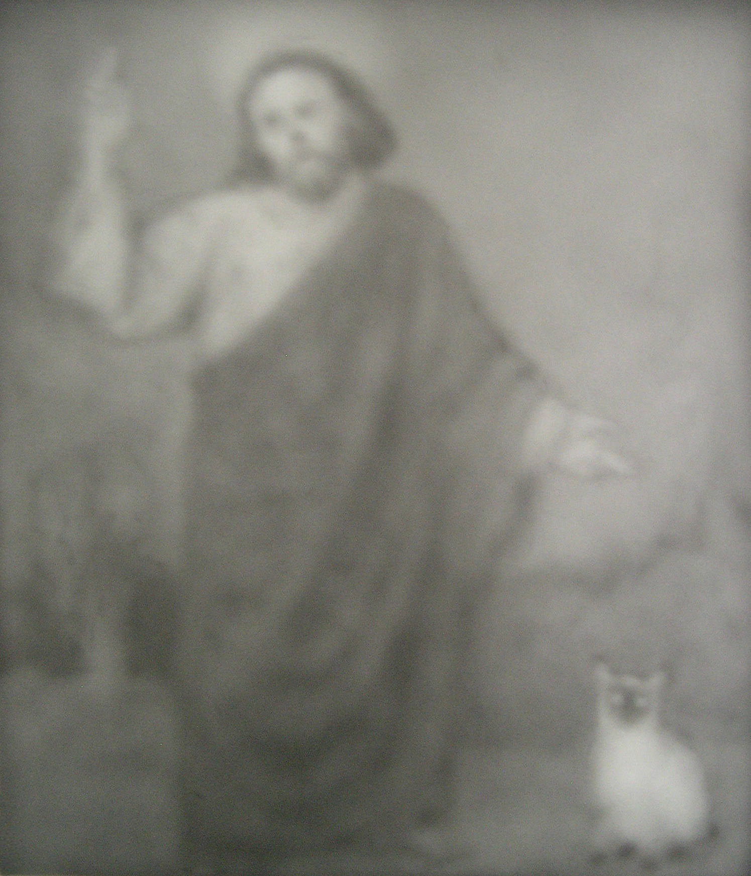Christ Descending into Hell to Retrieve the Soul of an Unruly Cat