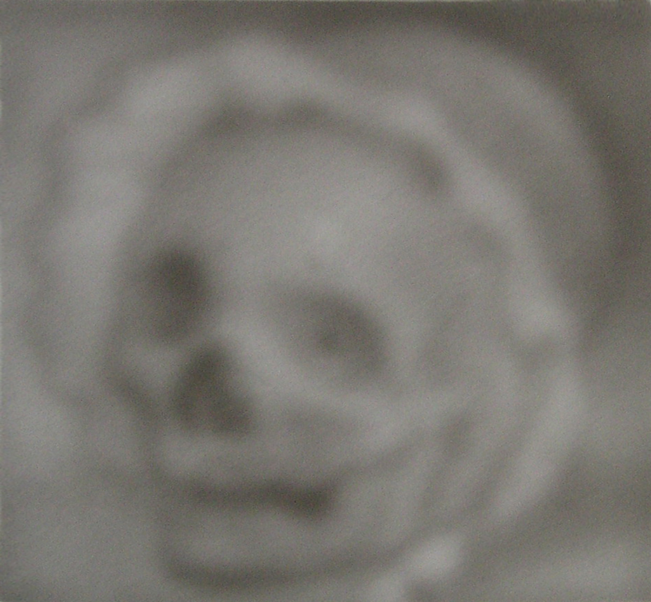 Skull Wearing a Baby Bonnet