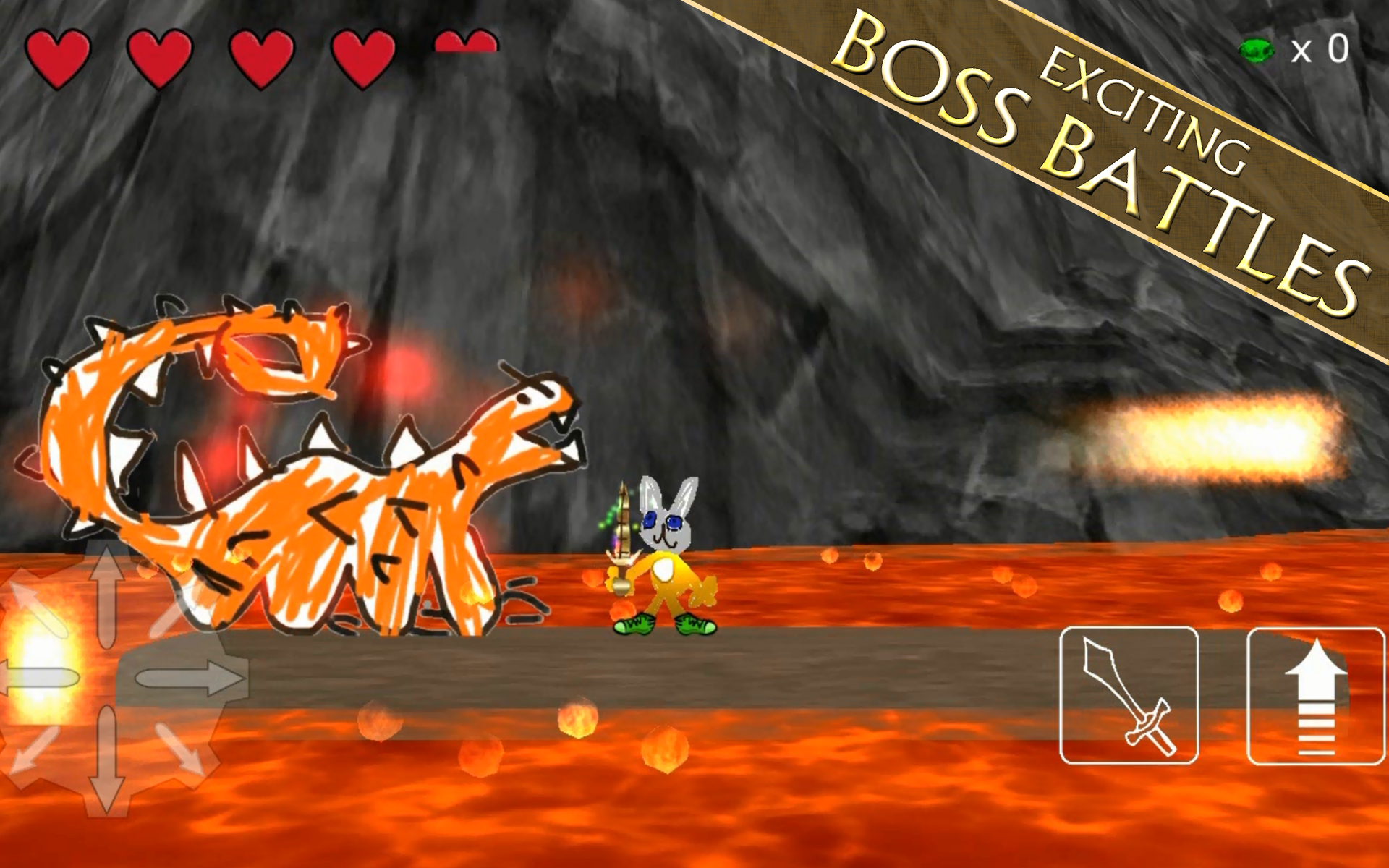 Exciting boss battles!