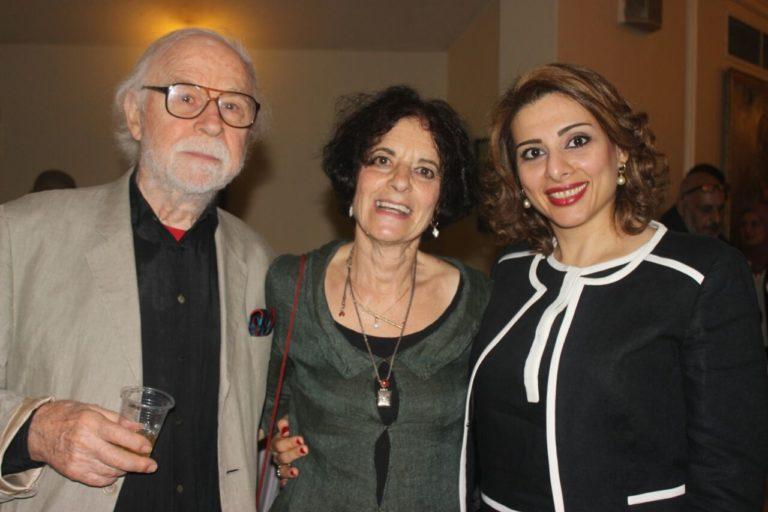 Closing night of the Theater Festival: George Bartenieff, me, Yasmin, Farrag, a Festival organizer.