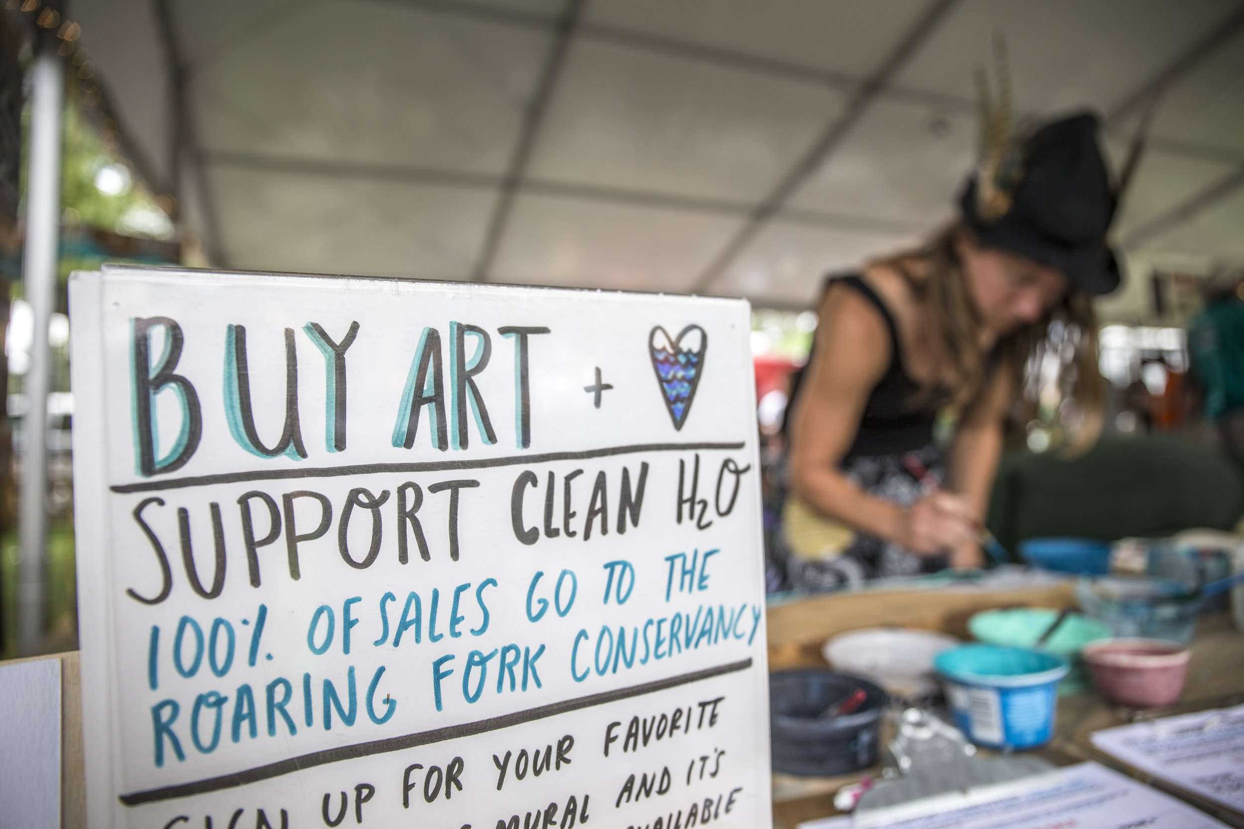Live Art at Carbondale Mountain Fair and the Roaring Fork Conservancy