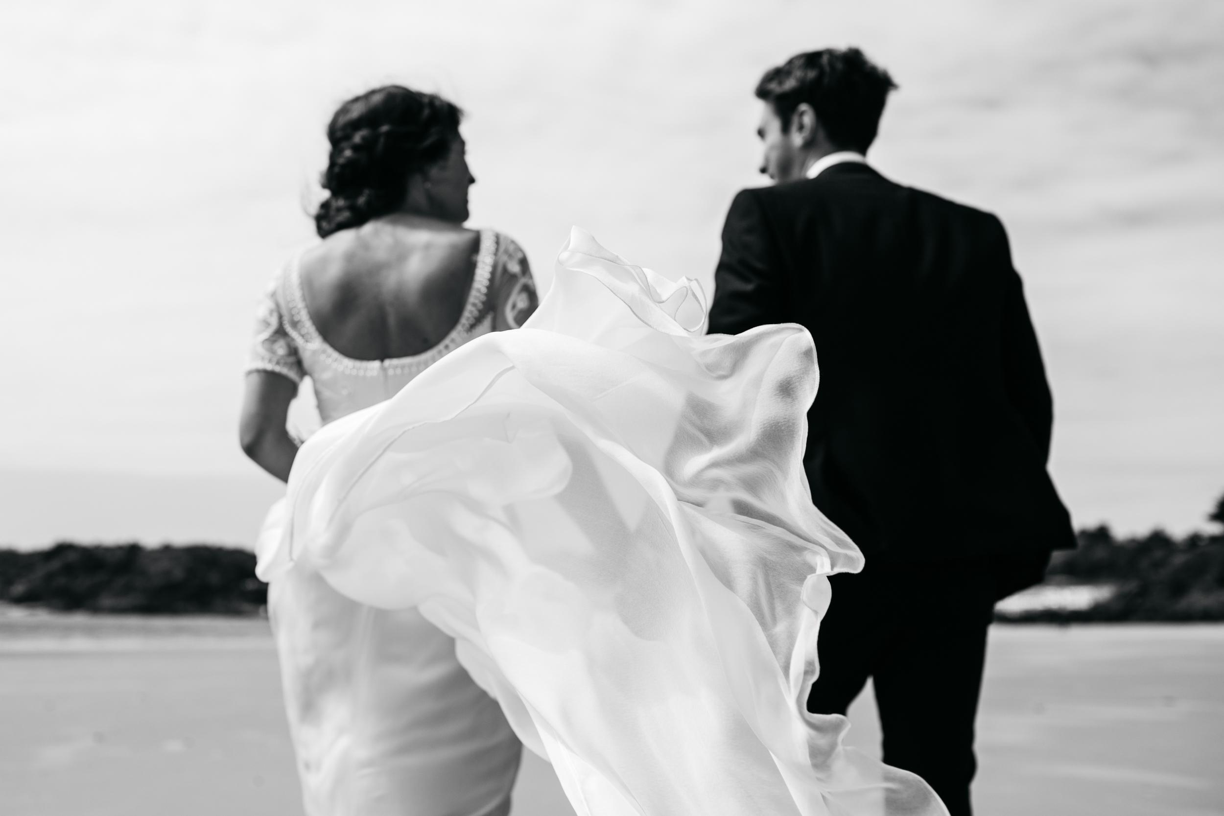 Fine Art Documentary Wedding Photograph of a dress detail