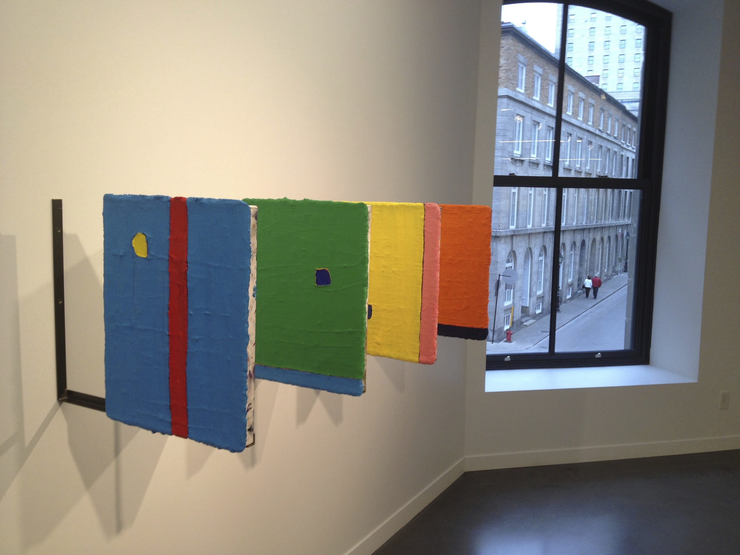 Paul Bureau's thick-layered colour abstractions in Phi Centre