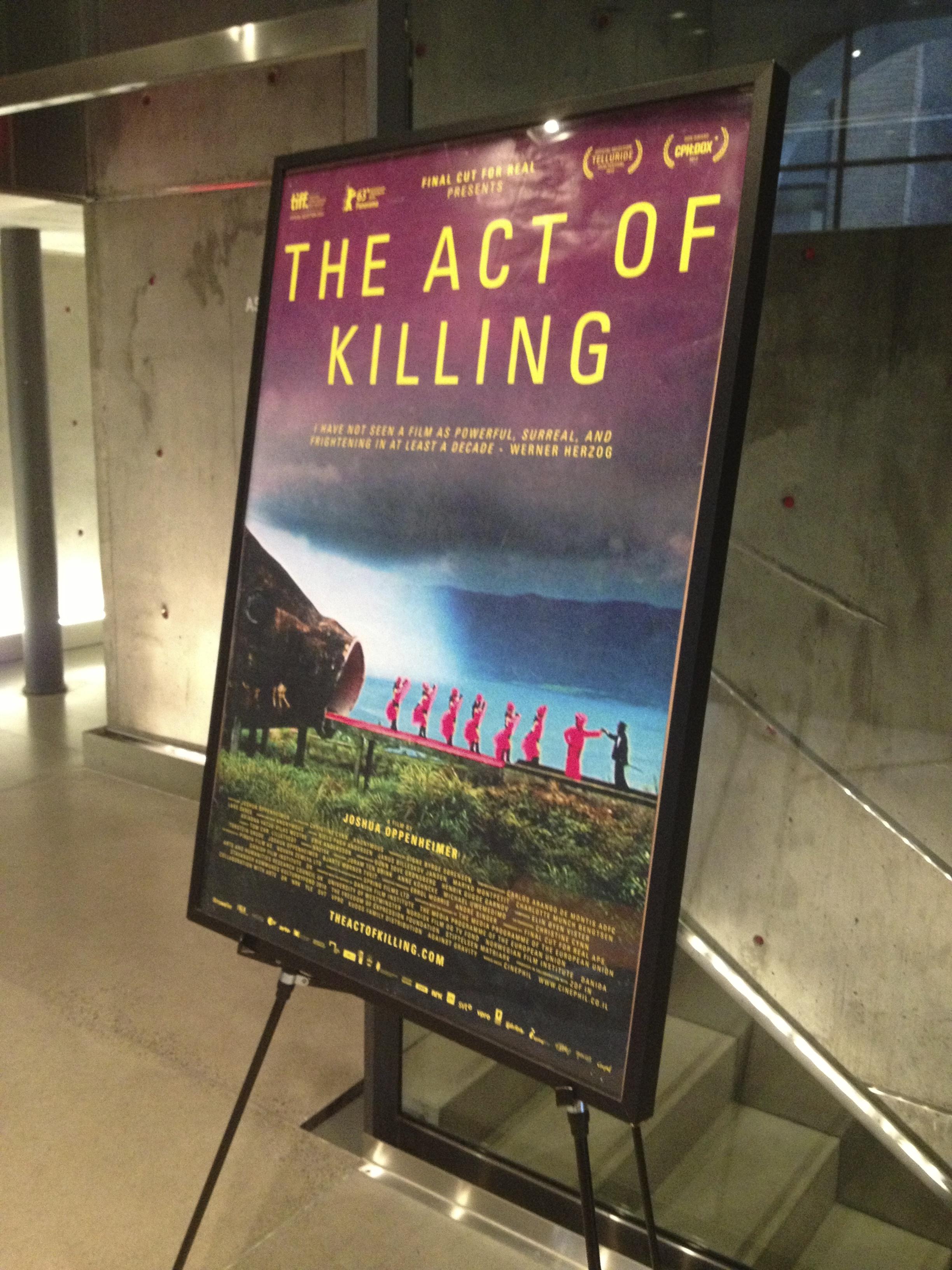"""Joshua Oppenheimer's """"The Act Of Killing"""" movie poster"""