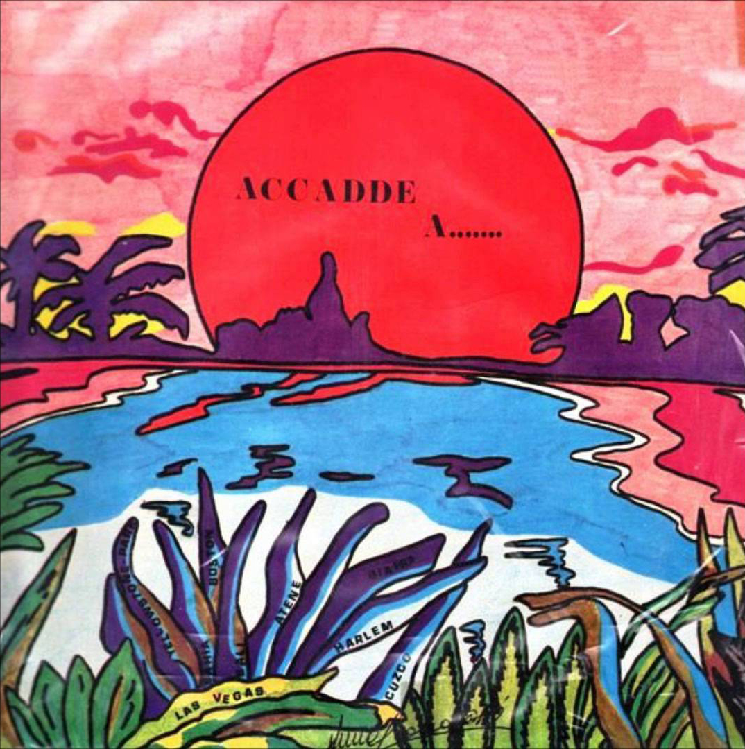 """Exotica and library music collectors' wet dream """"Accade A"""" by Arawak pressed on 180g slab of wax via Golden Pavillion."""